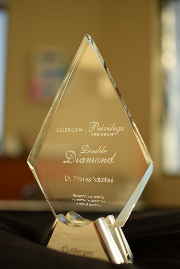 Dr. Nakatsui Double Diamond award recipient from Allergan